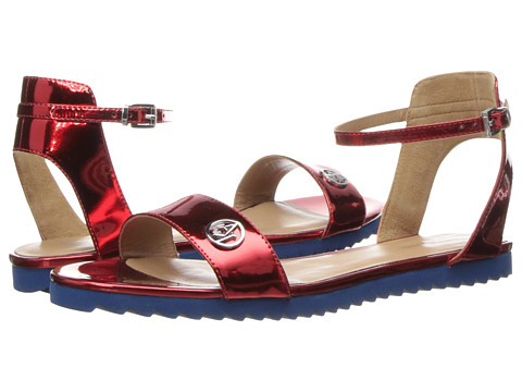 b0436627236c6 EAN 8056047514637 product image for Armani Jeans Logo Metallic Sandal (Red) Women s  Sandals