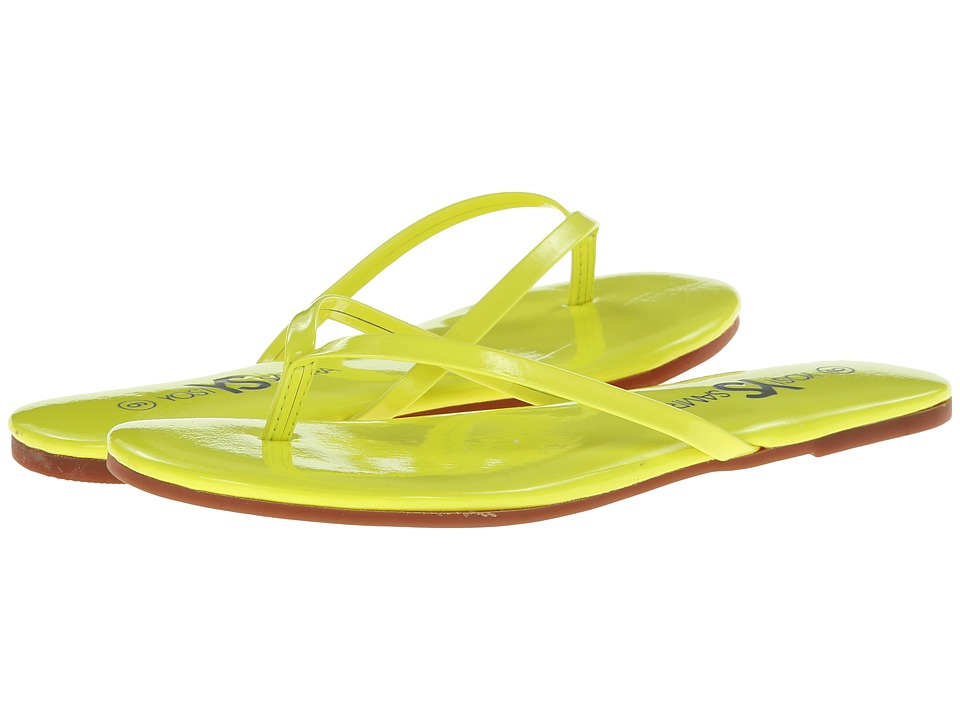 Yosi Samra - Roee Patent Flip Flop (Neon Yellow) Women
