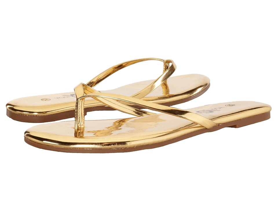 Yosi Samra - Roee Specchio Brazil Flip Flop (Gold) Women's Sandals