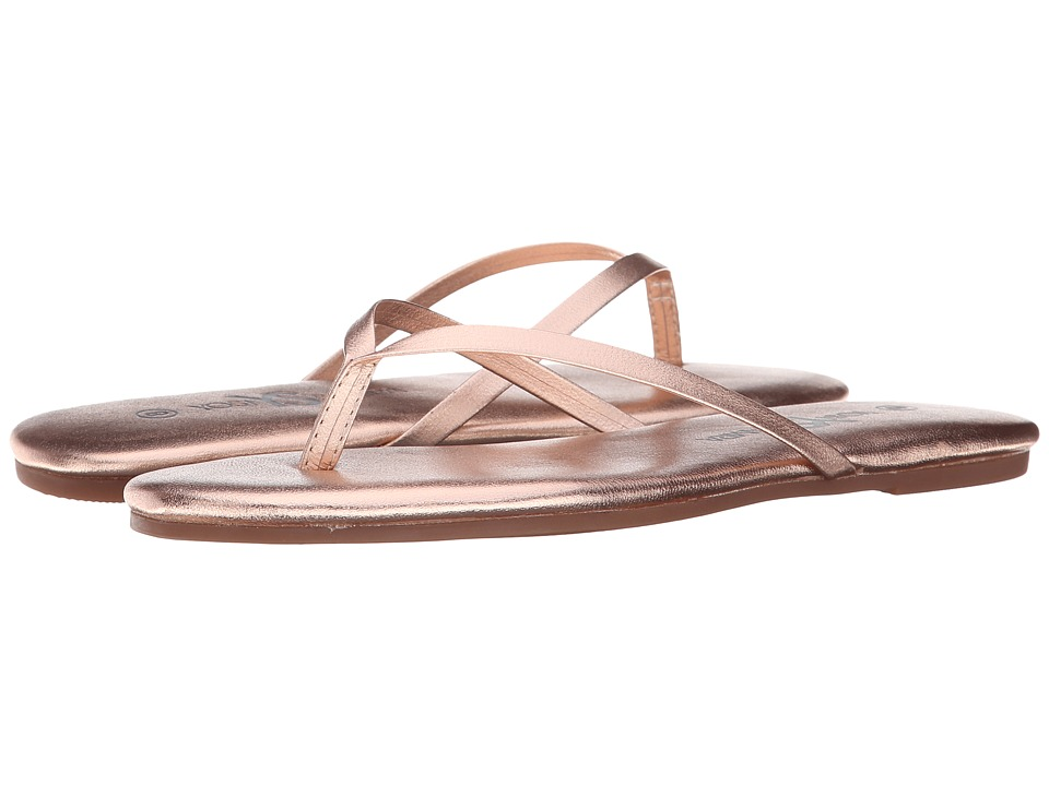 Yosi Samra - Roee Metallic Leather Flip Flop (Rosegold) Women's Sandals