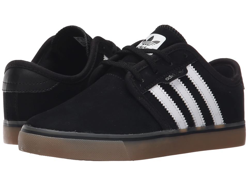 adidas Kids - Seeley J (Little Kid/Big Kid) (Core Black/FTWR White/Gum 4) Kids Shoes