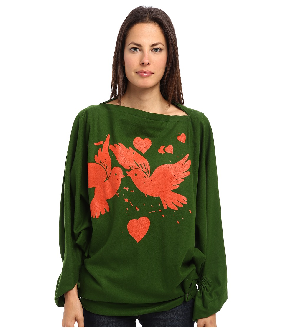 Vivienne Westwood Gold Label - Infinity Birds Poncho (Light Green) Women's Long Sleeve Pullover