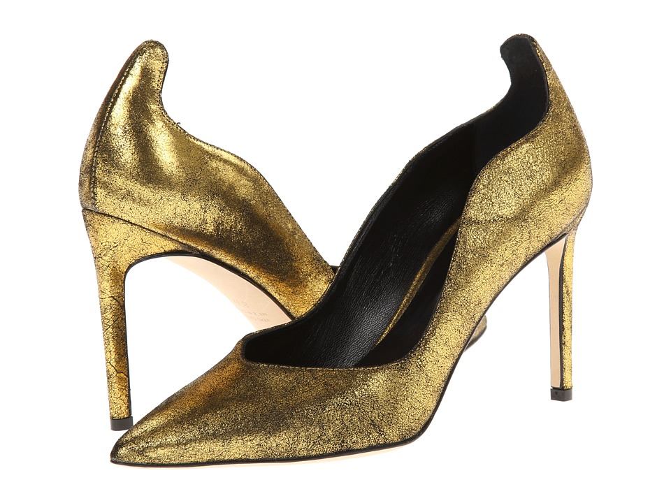 Delman - Brie (Gold Sueded Metallic) High Heels
