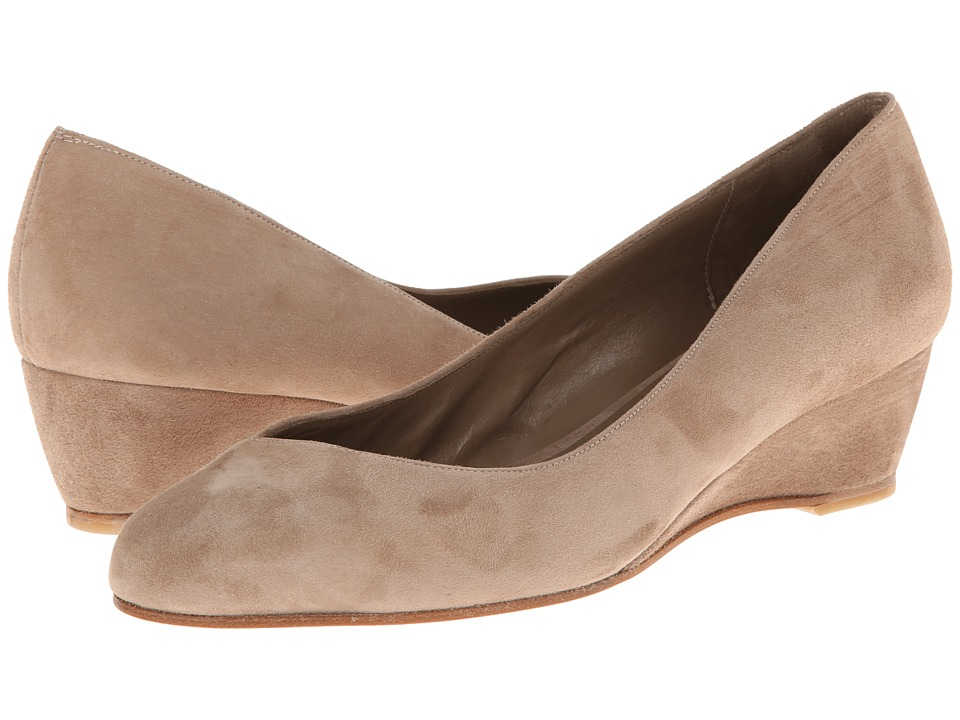 Delman - Doll (Camel Kid Suede) Women's Wedge Shoes