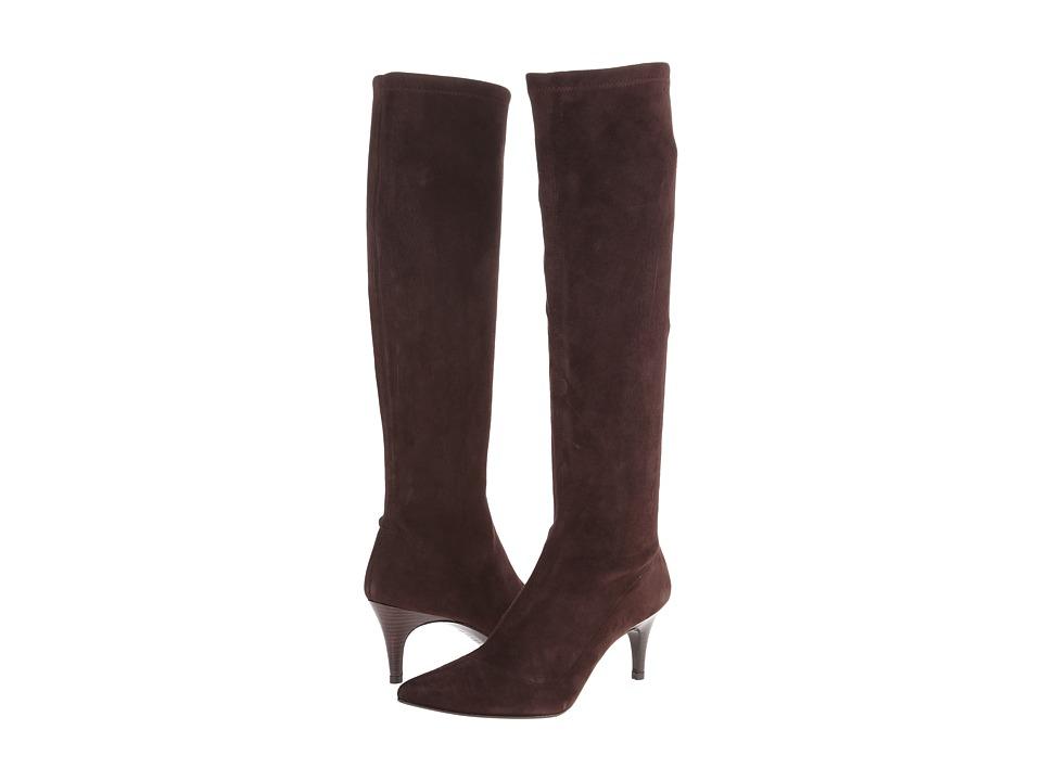 Delman - Lilia (Dark Brown Stretch Suede) Women's Boots