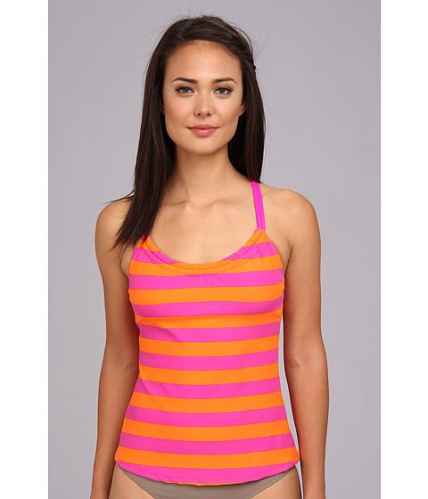 Next by Athena - Lined Up Shirred Tankini (Fuchsia) Women's Swimwear