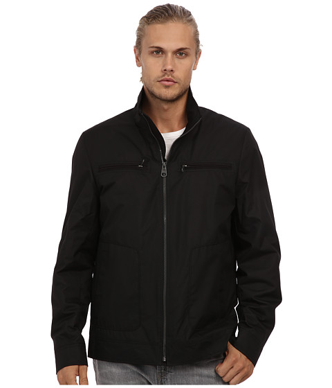 Buffalo David Bitton - 27 Polyester Zip Front Open Bottom with 2 Upper Chest Pockets and 2 Side Entry (Black) Men's Coat