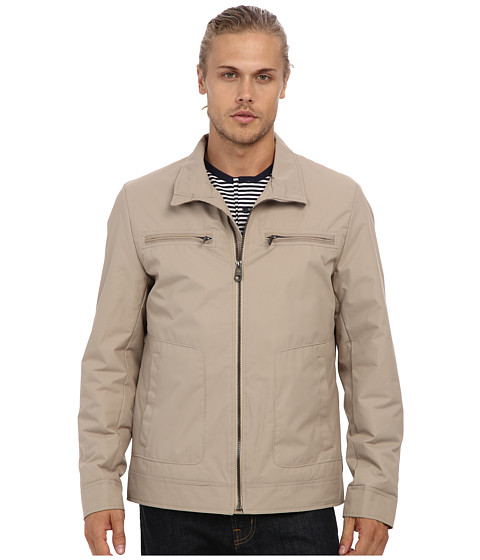 Buffalo David Bitton - 27 Polyester Zip Front Open Bottom with 2 Upper Chest Pockets and 2 Side Entry (Chinchilla) Men