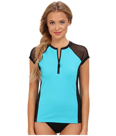 Nautica - Full Speed Surf Shirt (Black) Women's Swimwear