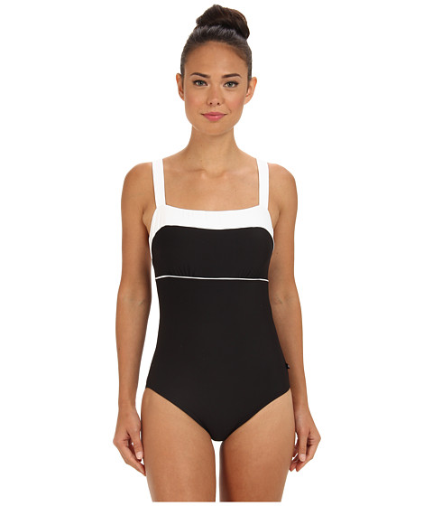 Nautica - Signature S/C One Piece NA83555 (Black) Women's Swimsuits One Piece