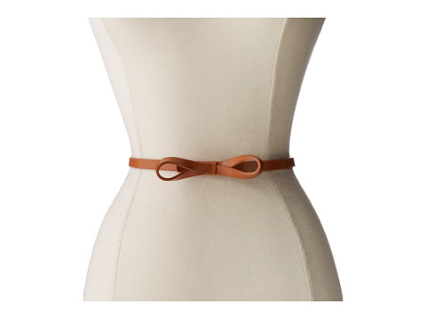 Lodis Accessories - Audrey Skinny Bow High Waist Belt (Toffee) Women