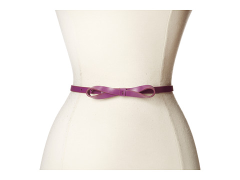 Lodis Accessories - Audrey Skinny Bow High Waist Belt (Raisin) Women
