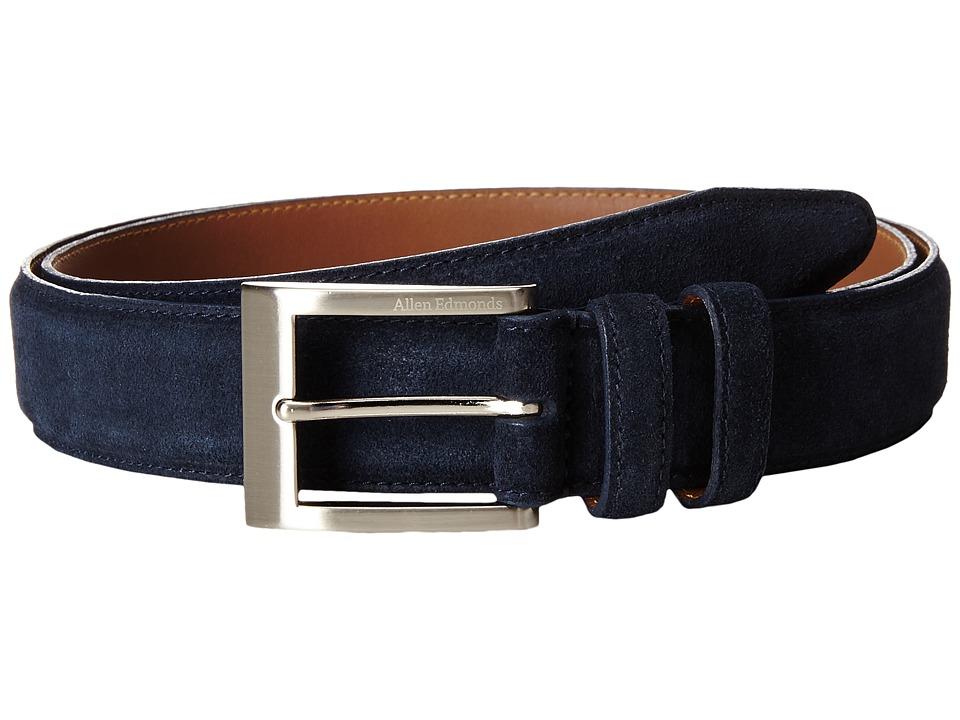 Allen-Edmonds - Wide Basic Dress (Navy Suede) Men's Belts