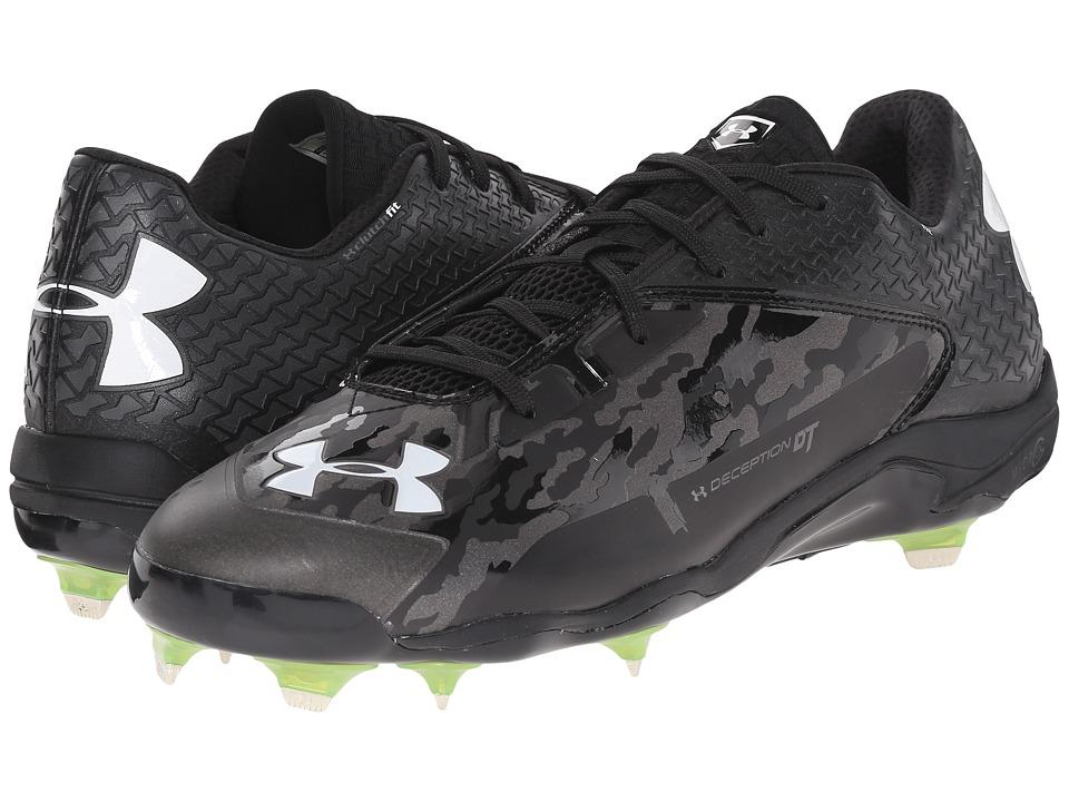 Under Armour - UA Deception Low DT (Black/Charcoal) Men's Cleated Shoes
