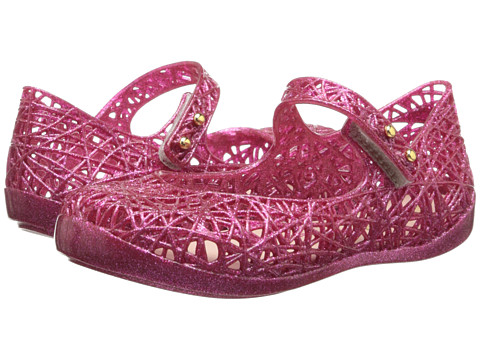 Mini Melissa - Campana Zig Zag (Toddler) (Pink Glitter) Girls Shoes