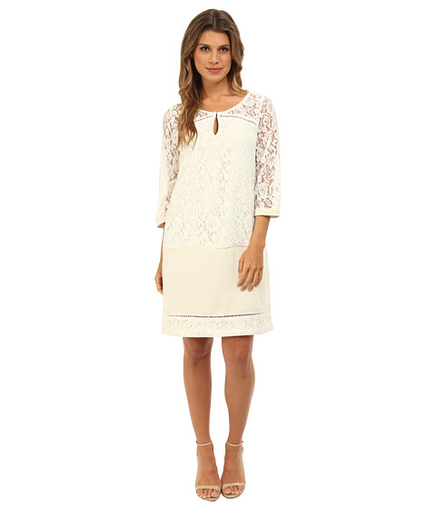 Hale Bob - Shift Dress (Ivory) Women