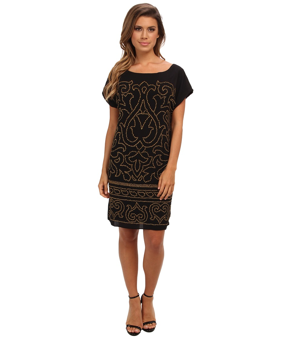 Hale Bob - Lavinia Beaded Dress (Black) Women's Dress