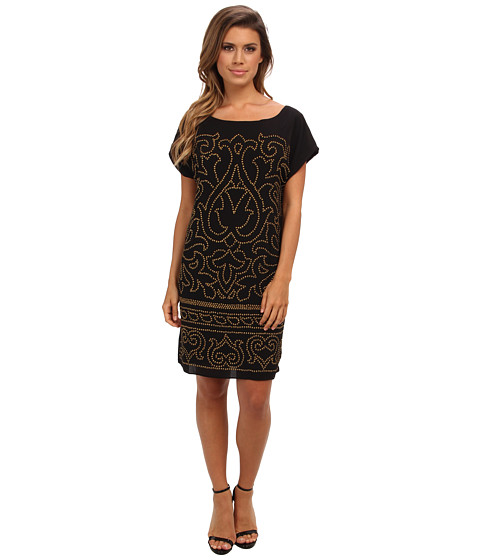Hale Bob - Lavinia Beaded Dress (Black) Women