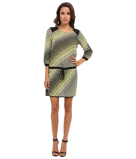 Hale Bob - Drop Waist Dress (Lime) Women's Dress