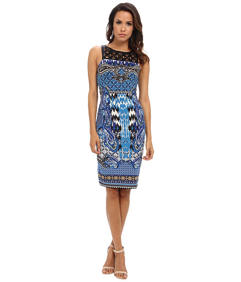 Hale Bob - Brittan Lasercut Dress (Blue) Women's Dress