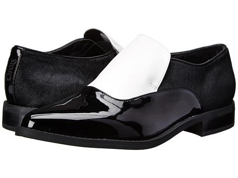 Circus by Sam Edelman - Farrah (Snow White/Black) Women's Slip-on Dress Shoes