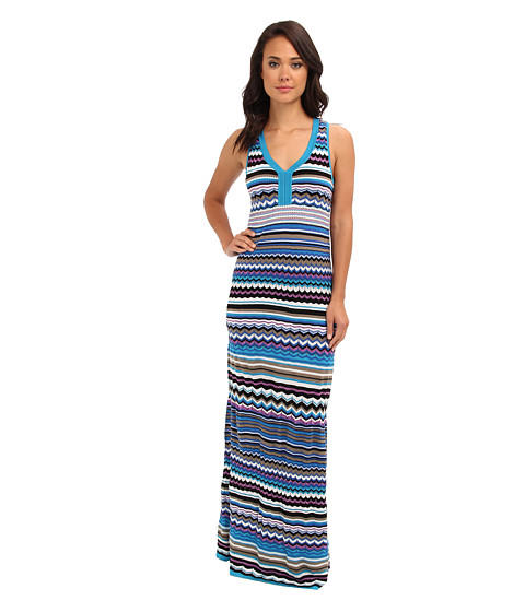 Laundry by Shelli Segal - Zig Zag Summer Knit Maxi (Black Multi) Women's Dress