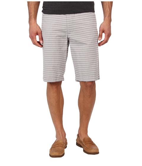 Kenneth Cole Sportswear - Horizontal Stripe L Pocket Short (Dim Grey Combo) Men