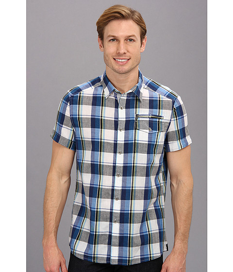 Kenneth Cole Sportswear - Short Sleeve Large Check Zip Pocket Shirt (Multi Combo) Men's Short Sleeve Button Up
