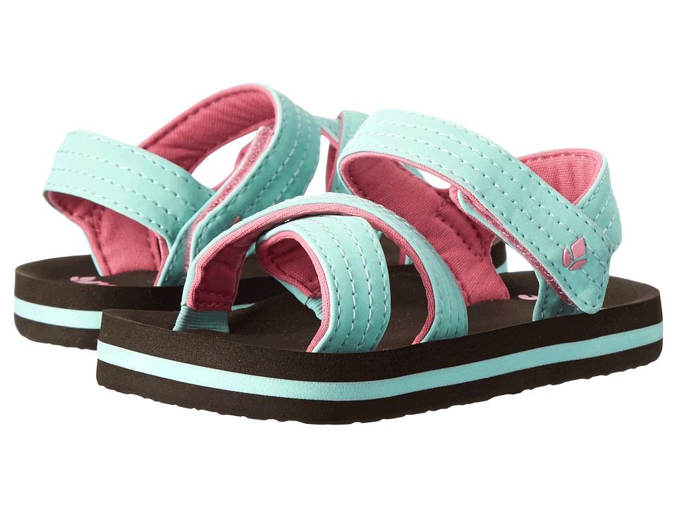 Reef Kids - Little Ahi Romper (Infant/Toddler/Little Kid/Big Kid) (Brown/Mint) Girls Shoes