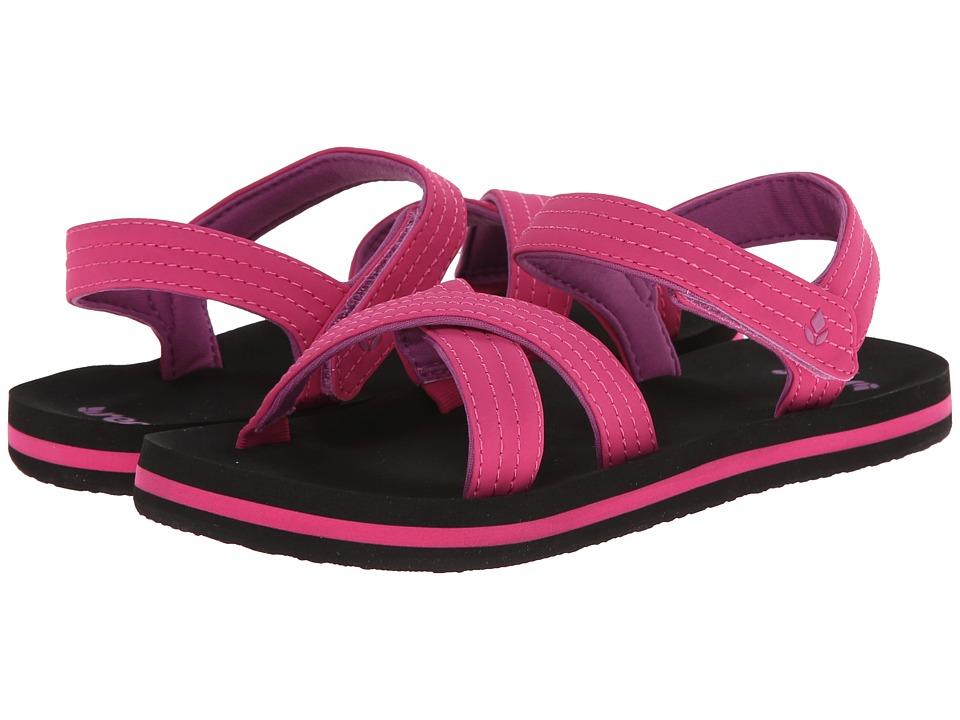 Reef Kids - Little Ahi Romper (Infant/Toddler/Little Kid/Big Kid) (Black/Pink) Girls Shoes