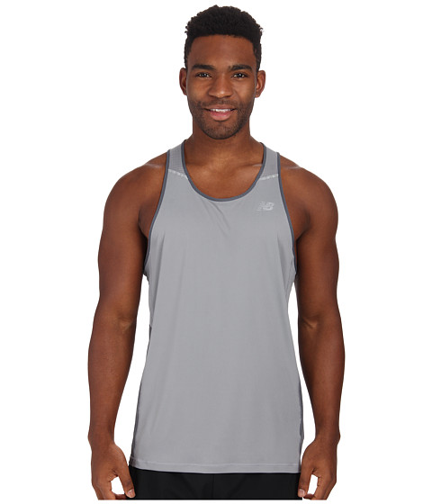 New Balance - NB Ice Singlet (Steel/Lead) Men's Sleeveless