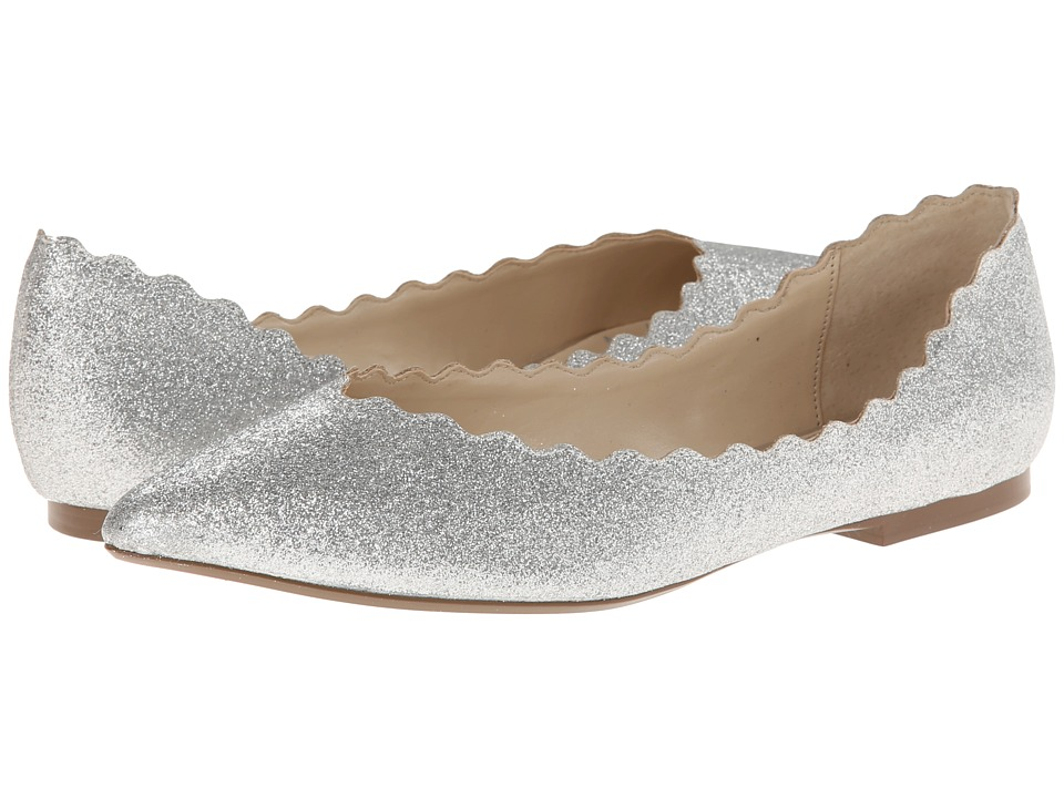 Blue by Betsey Johnson - Cake (Silver Fabric) Women's Dress Flat Shoes