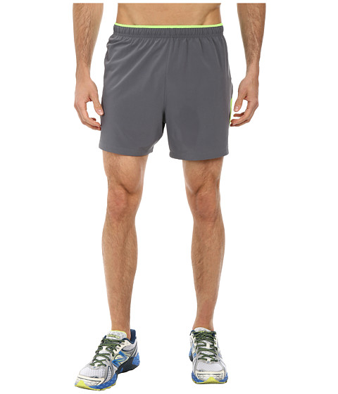 New Balance - Impact 5 Track Short (Chemical Green/Lead) Men's Shorts