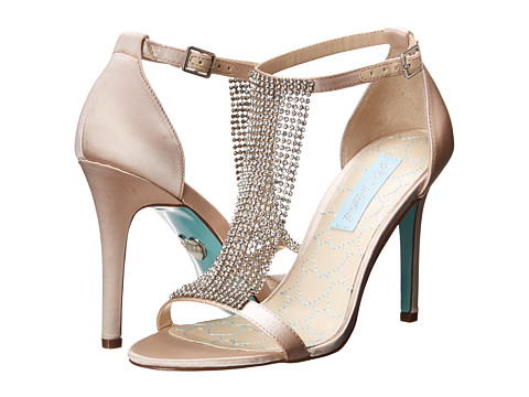 Blue by Betsey Johnson Mesh (Champagne Satin) High Heels