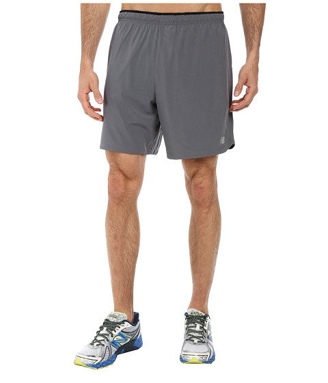 New Balance - Impact 7 2-IN-1 Short (Lead/Black) Men's Shorts