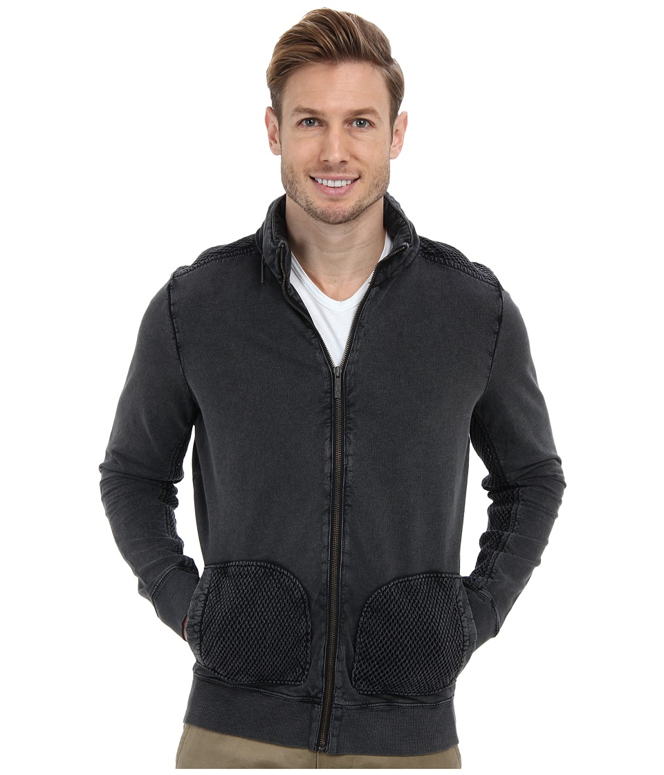 Kenneth Cole Sportswear - Long Sleeve Woven Piece Zip Up (Dust) Men