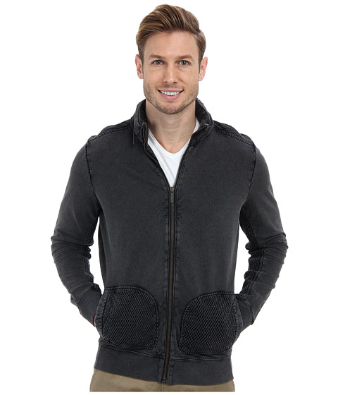 Kenneth Cole Sportswear - Long Sleeve Woven Piece Zip Up (Dust) Men's Coat