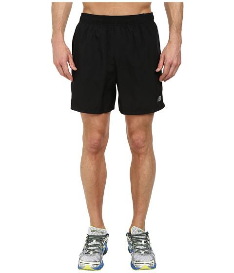 New Balance - Accelerate 5 Short (Black/Black) Men