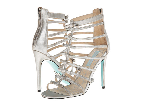 Blue by Betsey Johnson - Tie (Silver) High Heels