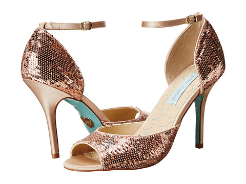 Blue by Betsey Johnson - Wed (Champagne Sequins) High Heels