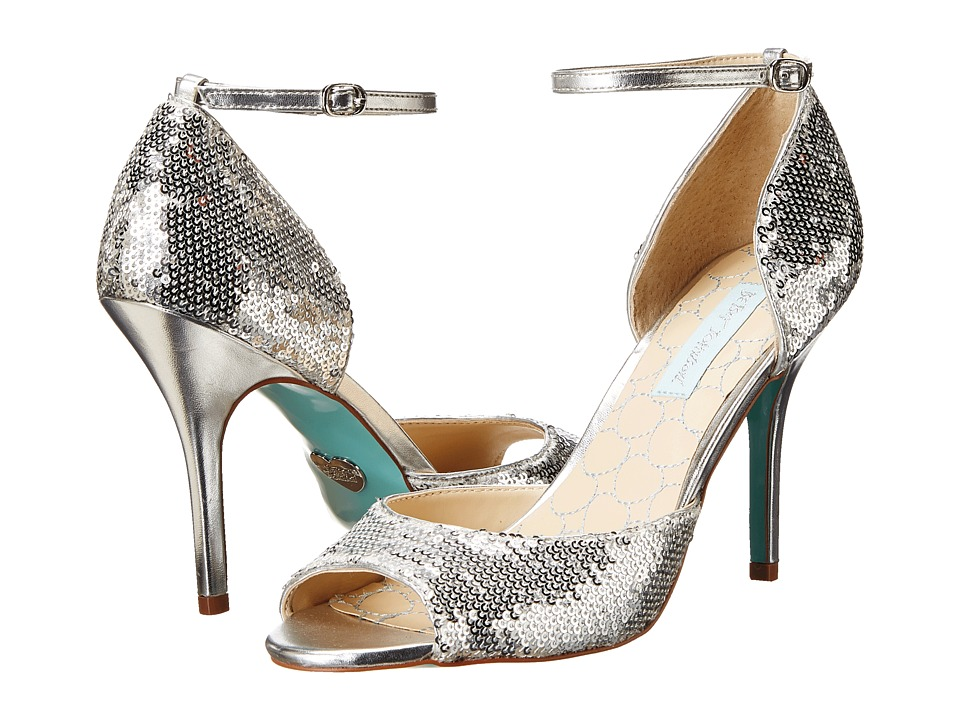 Blue by Betsey Johnson - Wed (Silver Sequins) High Heels