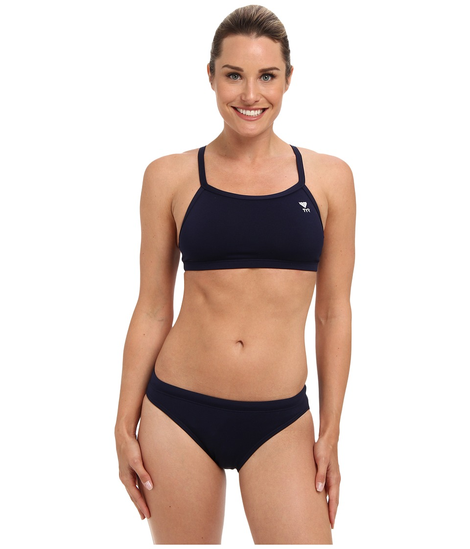 TYR Durafast Elitetm Solids Diamondfit Workout Bikini Navy Swimwear Sets