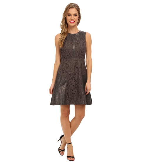Ali Ro - Jacquard Lace Combo (Steel Grey) Women's Dress
