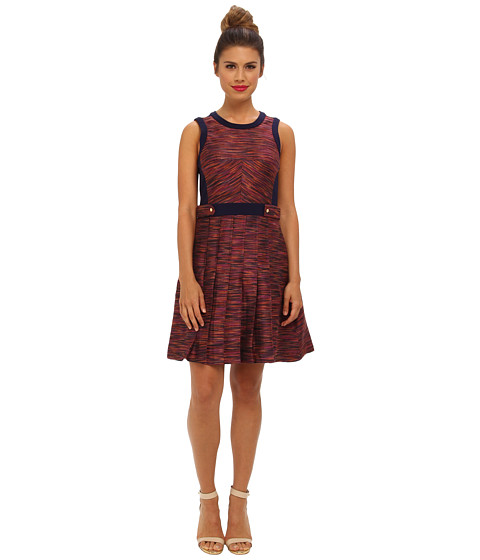 Ali Ro - Sleeveless Space Dyed Jacquard (Candy Apple Multi) Women's Dress