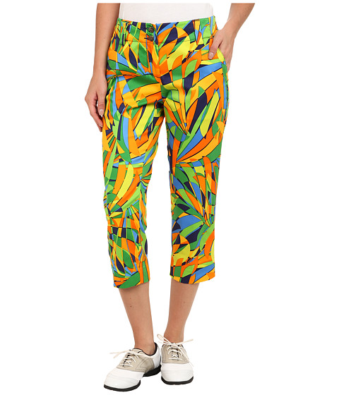 Loudmouth Golf - Peacock Capri (Multi) Women