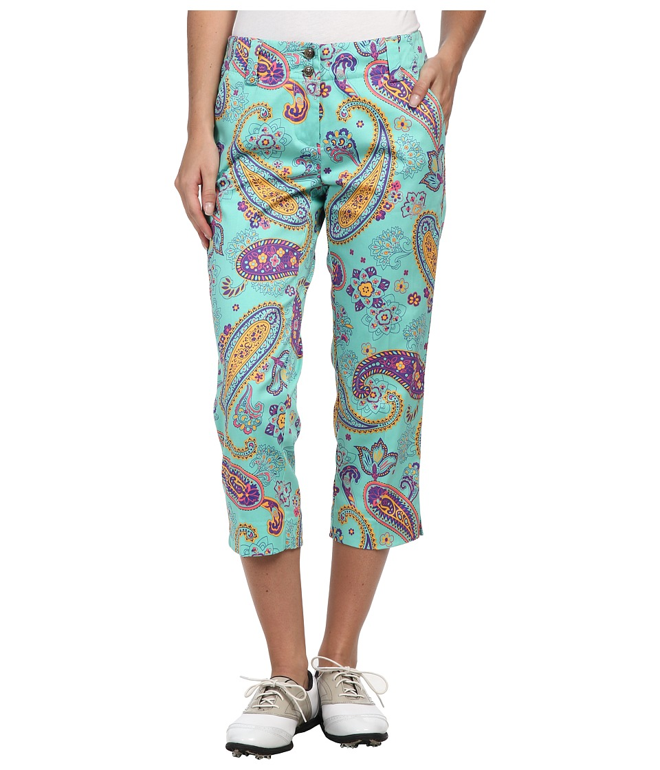 Loudmouth Golf - Purple Paze Capri (Purple) Women