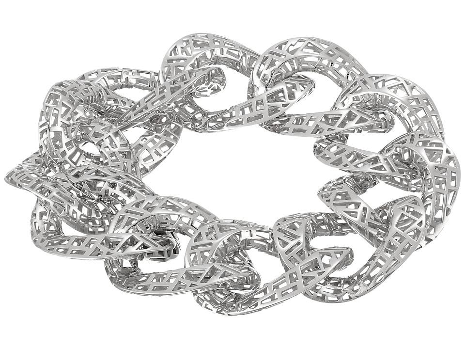 Roberto Coin - Skyline Link Bracelet 8 (White) Bracelet