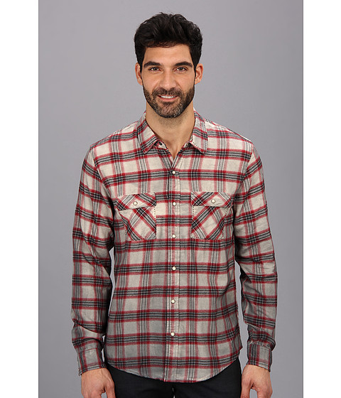 Silver Jeans Co. - L/S Plaid Shirt (Red) Men