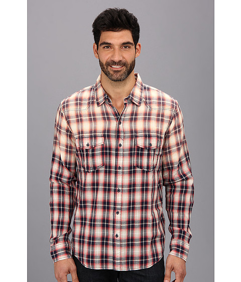 Silver Jeans Co. - L/S Plaid Shirt (Red) Men's Long Sleeve Button Up