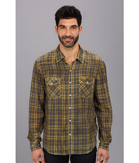 Silver Jeans Co. - L/S Plaid Shirt (Yellow) Men's Long Sleeve Button Up
